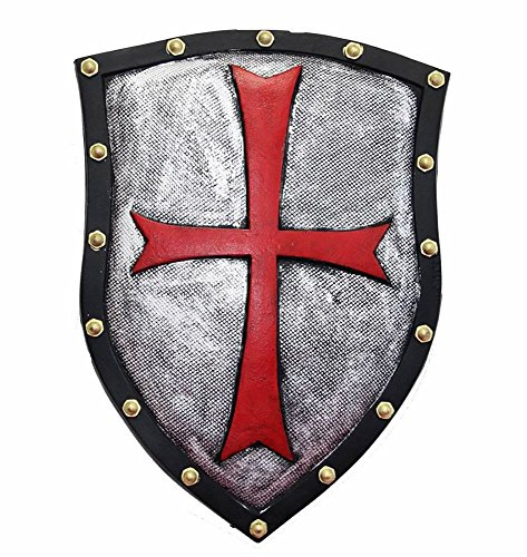 Nice purchase Medieval Knight Crusader Shield Knights Templar Cross Sheild 21 x 14in Home Wall Decoration Party Decor Costume Gifts - PU Rubber Retro Style