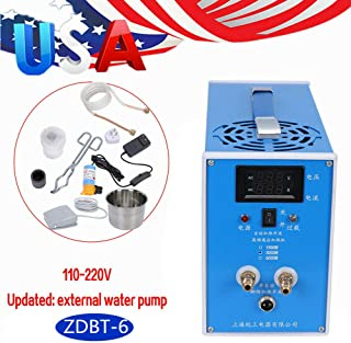 BoTaiDaHong 2450W ZVS Induction Heater Heating Machine Metal Melting Furnace Weld Automatic/Foot Switch Heating AC 110-220V Small-Scale Melting Gold and Silver Furnace Iron Parts