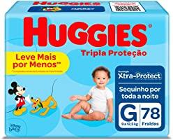 Fralda Huggies Tripla Proteção G - 78 Fraldas