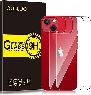 QULLOO【2枚】iPhone 13 mini 専用 背面フイルム 強化ガラス 保護フィルム 硬度9H 耐衝撃 飛散防止 指紋防止 自動吸着 気泡防止 iPhone13 mini 用 ガラスフィルム