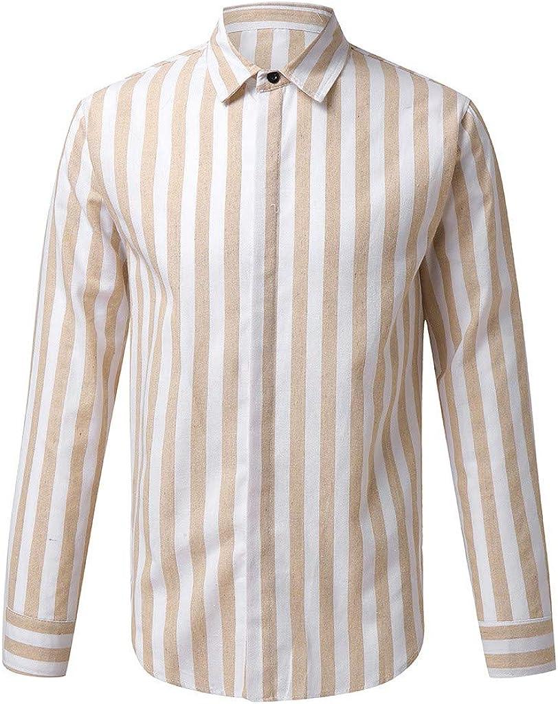 Camisa de Manga Larga con Estampado de Rayas Verticales para ...