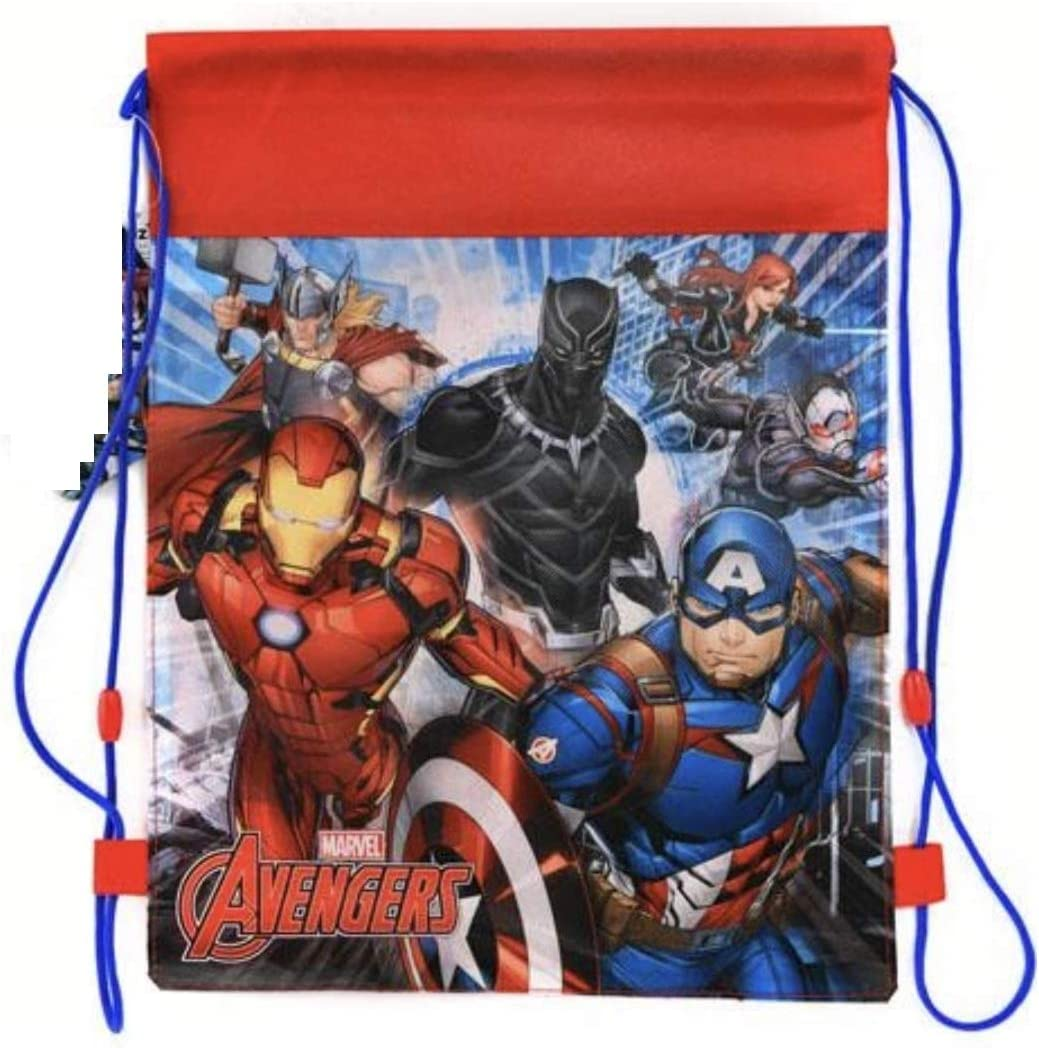Disney & License Sling Bag Allover Printed For Boys or Girls,Perfect for Sport,Lunch, or Toys (Avengers)