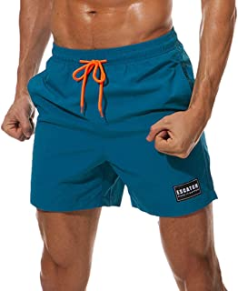 casuress Men's Swim Trunks Quick Dry Summer Beach Board Shorts with Pockets