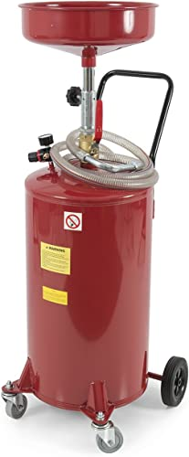 wholesale ARKSEN 2021 20 Gallon Portable Waste Oil Drain Tank Air Operated outlet sale Drainage Adjustable Funnel Height w/Wheel, Red online sale