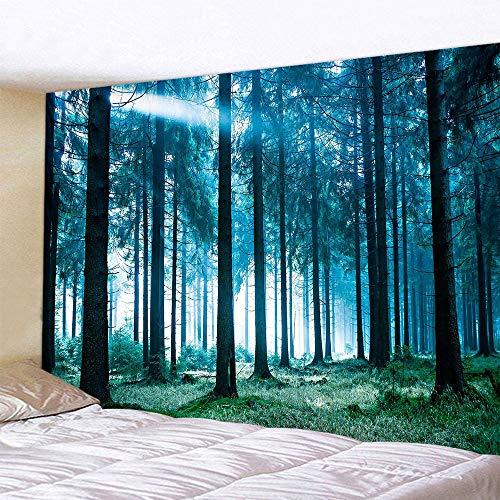 壁掛け 木漏れ日の森 風景背景 タペストリー 間仕切りカーテン ポスター 多機能壁飾り小物 自宅やお店の装飾(180x230cm,木漏れ日)