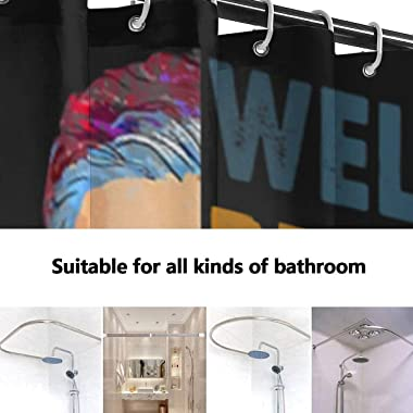 Womens Well Behaved Women Seldom Make History Ruth Bader Ginsburg RBG Shower Curtain Colorful Design Waterproof Fabric Bathro