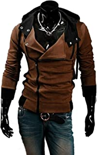 Kaured Fashion Casual Cardigan Men Hoodie SweatLong Sleeved Slim Fit Male Zipper Hoodies Assassins Creed Jacket