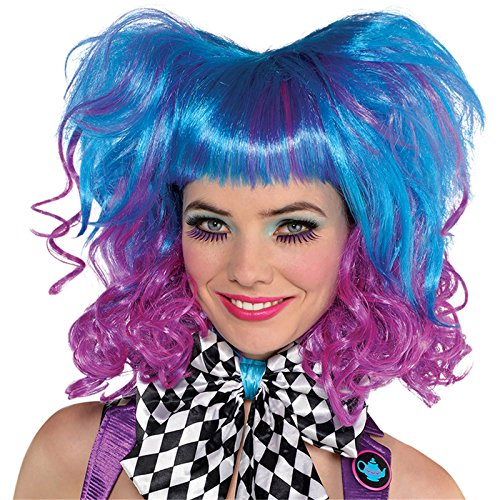 amscan 848459-55 Mad Hatter Curly Wig Party Accessory, 1 Pc