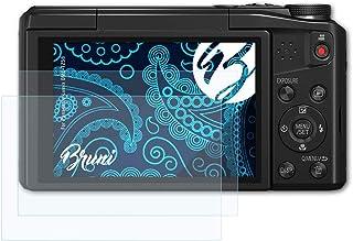 Bruni Schutzfolie kompatibel mit Panasonic Lumix DMC TZ58 Folie, glasklare Displayschutzfolie (2X)
