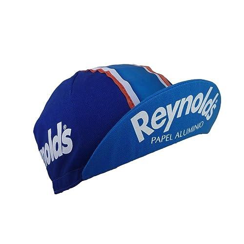 Retro cycling team cap Vintage fixie Reynolds Blue