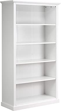 "Amazon Brand – Ravenna Home Sullivan Modern Bookcase, 41.4""W, White"