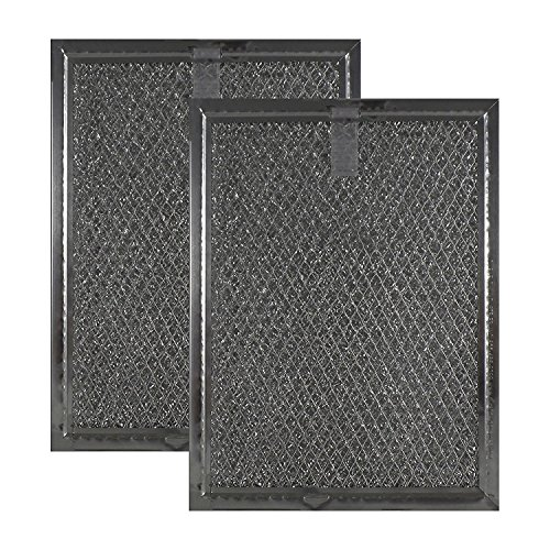 Air Filter Factory 2 Pack Compatible Replacement for Frigidaire FGMV174KFA Microwave Mesh Grease Filters 6 x 8 x 3/32 Inches