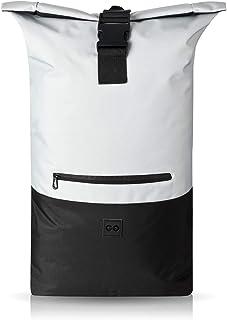 URBAN ZWEIRAD Roll-Top Rucksack 35l - Lifestyle Rucksack für den Alltag - Wasserabweisend & sehr individuell packbar - Damen & Herren Grau
