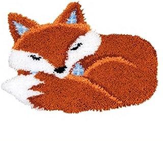 WYOUTDOOR DIY Latch Hook Kit Loquet Crochet Kits Tapis Broderie avec Motif Animalier en Toile Imprimée Tapis Non Fini Fais...