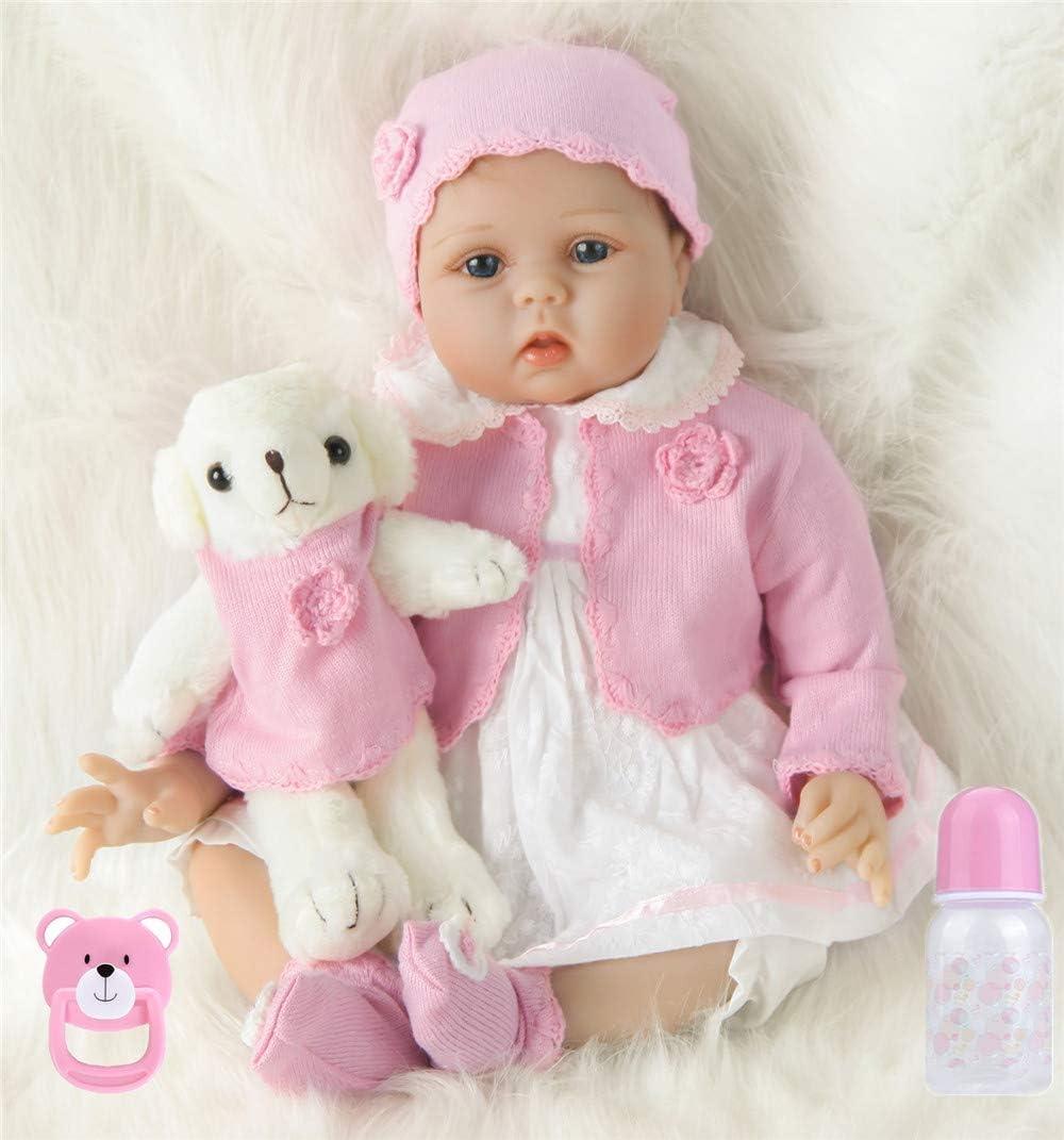 22pulgadas 55cm Bebes Reborn niña Verdadero Silicona muñecas Reales Baby Dolls Girls Originales Recien Nacidos niños Toddler Realista Ojos Abiertos