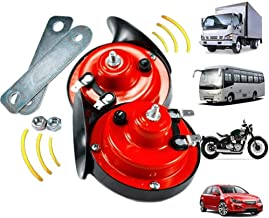 $20 » Sponsored Ad - 2PCS 300db Train Horn for Trucks,Loud Air Electric Snail Single Horn,Waterproof Motorcycle Snail Horn,12v D...