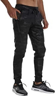 FLYFIREFLY Mens Joggers Sweatpants Mens Athletic Jogger Running Sport Pants for Men with Zipper Pockets