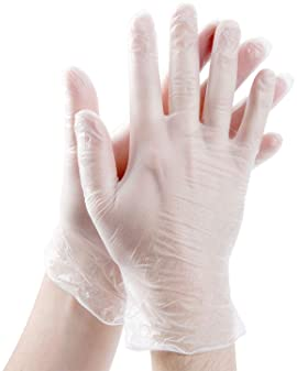 Pack of 100 High Density Embossed Grip Clear Medium Latex Free The Safety Zone GDPE-MD-E-100 Powder Free Polyethylene Gloves