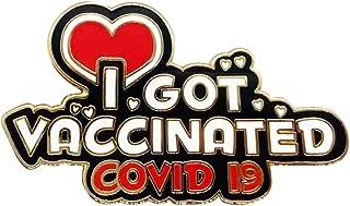 Scdom Spilla Vaccinata Covid, Spilla COVID 2021 Monete Commemorative Ho Vaccinato Spilla Smaltata Creativa per Camice da L...