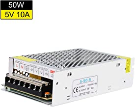 YETAIDA 5V 10A Universal DC Power Supply Low Voltage Regulated Switching Power Supply 100-240v 50 60hz for CCTV Camera