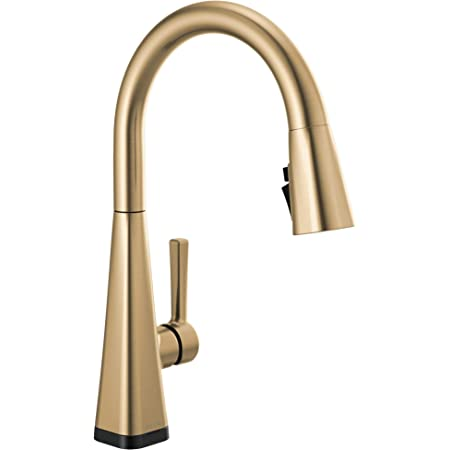 Delta Faucet Lenta Single-Handle Touch Kitchen Sink Faucet with Pull Down Sprayer, Touch2O and ShieldSpray Technology, Magnetic Docking Spray Head, Champagne Bronze 19802TZ-CZ-DST