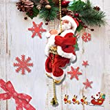 Electric Climbing Santa 2021 Christmas Ornament On Rope Ladder Christmas Tree Indoor Outdoor Hanging Christmas Creative Decoration for Christmas Tree Fireplace Home Decor