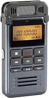 Sp-Cow Grabadora de Voz Digital Portátil 8GB Recargable Grabadora Sonido Estereo con Carcasa Metálica Clara Grabación Reducción de Ruido ctivada por Voz Conexión a PC Reproductor de MP3