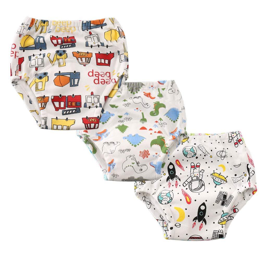 Enfants Ch/éris Pack-3 Toddler Potty Training Underwear Kid Boys Girls Training Pants 2-6years