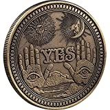 Strugglejewelry Yes No Challenge Coin Collector's Medallion Souvenir (Bronze)