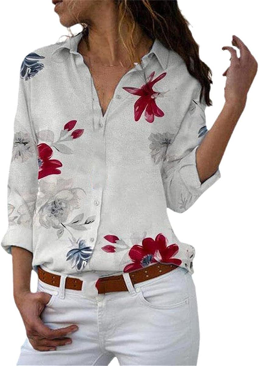 Long-Sleeved Women's Shirts Plus Size Lapel Shirts Casual Tops Elegant Work Clothes Chiffon Shirts