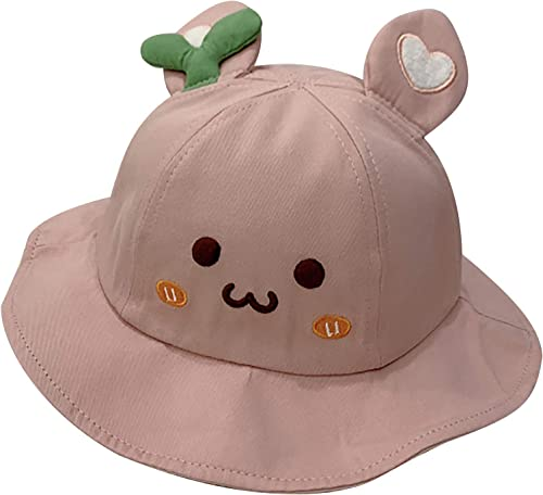 popular Cute Bucket Hat for Kids Summer Sun Protection Hat Toddler Baby Boys Girls Bucket Cap Outdoor Beach Hat with Wide wholesale Rim wholesale Pink sale