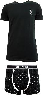 JU12055 t-Shirt Scollo V Cotone Elasticizzato Prodotto Ufficiale Juve Art Juventus Coordinato Ragazzo Boxer