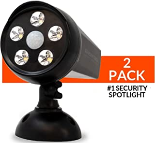 Guardian Torch - Home Security Spotlight (2 Pack) Solar Powered - 120° Motion Sensor - Waterproof Outdoor Floodlight - 5 Bright LED Lights - Dusk to Dawn