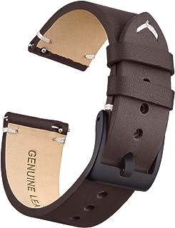 Ritche Correa de piel auténtica para reloj de 0.709in, 0.787in, 0.866in, de liberación rápida, compatible con Seiko Watch para hombres