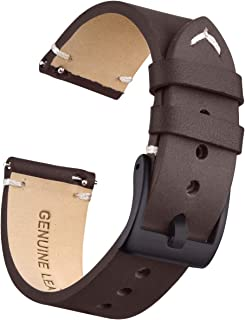 Quick Release Leather Watch Bands 18mm 20mm 22mm Genuine Leather Watch Strap for Men Women