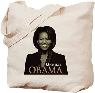 CafePress Michelle Obama Natural Canvas Tote Bag, Reusable Shopping Bag