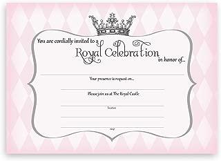POP parties Princess Party Large Invitations - 10 Invitations + 10 Envelopes