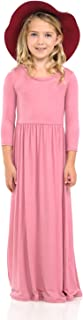 Honey Vanilla Girls' Fit and Flare Maxi Dress with Easy Removable Label