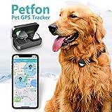 PetFon ペットGPSトラッカー 月間料金なし リアルタイム追跡首輪 アプリコントロール 犬 ペット アクティビティモニター用