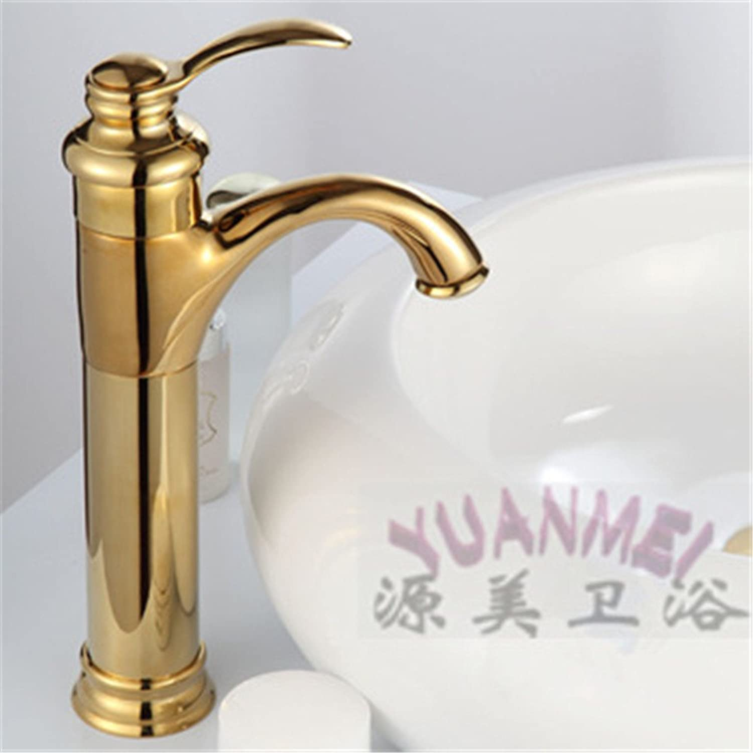 Commercial Single Lever Pull Down Kitchen Sink Faucet Brass Constructed Polished gold-Plated Antique Sanitary Ware European Antique Faucet Copper Hot and Cold Faucet Kitchen Faucet