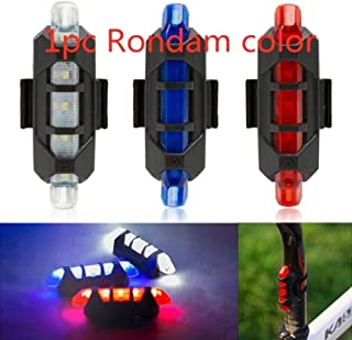 Safety Warning Riding Tail Light Portable USB Rear Tail Riding LED Light Bicycle Accessories