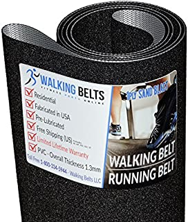 WALKINGBELTS Walking Belts LLC - Livestrong LS15.0T S/N: TM450 (2012) Treadmill Running Belt 1ply Sand Blast + Free 1oz Lube