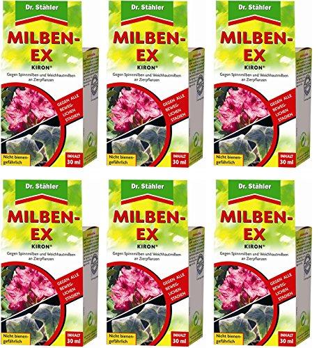 6 x 30 ml Dr. Stähler Kiron Milben-Ex + Zeckenzange mit Lupe