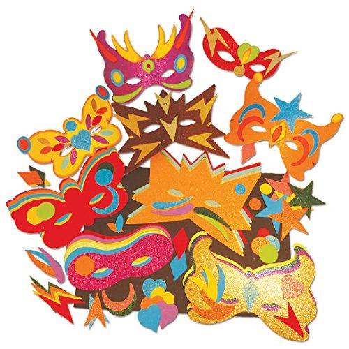 Springboard Glitter maskers en vormen Craft Activity Pack (Pack van 40)