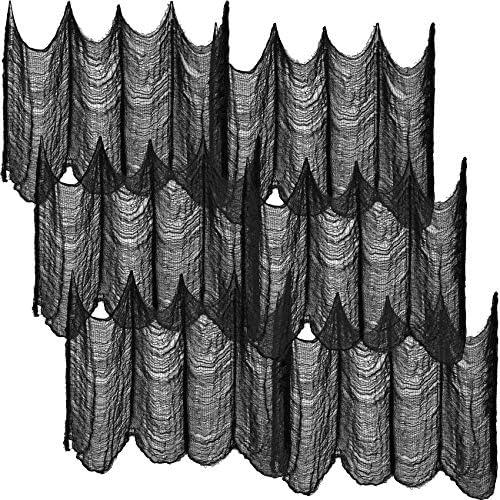 6 Pieces Black Halloween Creepy Cloth 30 x 72 Inch Spooky Cloth Creepy Gauze Decoration Halloween product image