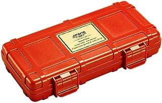JFYHZ Cigar Box, Portable Travel Cedar Wood Cigar Box, Humidor, Black, White, Red, Orange (Color : Orange)
