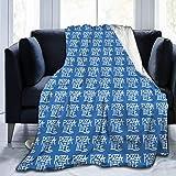 Ngxianbaimingj Manta de franela, Pizza is Life Stitched Edge acogedoras mantas, felpa térmica portátil alfombra para cama sofá de 160 x 50 pulgadas