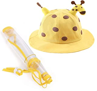 Toddler Kids Anti-Saliva Droplets Hat With Separate Mask Face Cover Epidemic Prevention Fisherman Hat Removable Mask