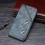BELLA BEAR Funda para ASUS Rog Phone 2,Billetera de Cuero Función de Soporte Material de PU Suave Estilo de Negocios Phone Case Cover for ASUS Rog Phone 2(Azul)