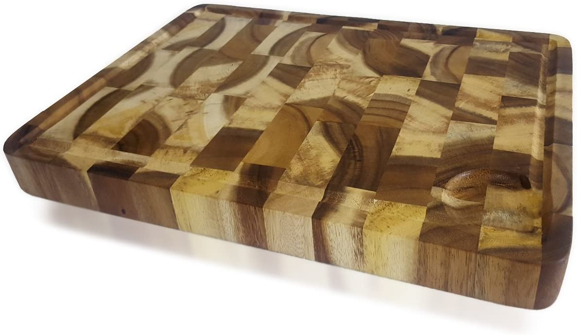 Online limited product roro Rectangular End Grain online shopping Acacia Board and Wood Kitchen Cutting